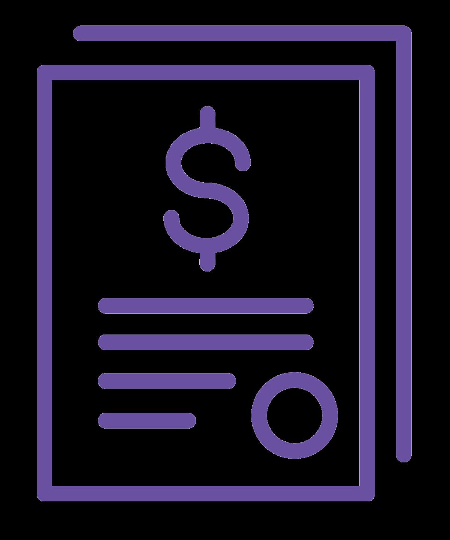 Hình ảnh của một tài liệu có ký hiệu đô la