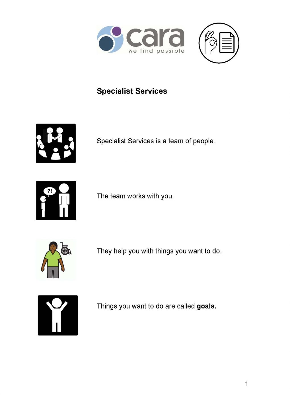 Specialist Services Easy English